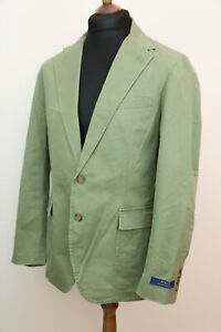 Polo Ralph Lauren mens double vent olive blazer size UK M ,RRP £245
