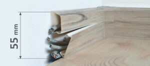 10 m Sockelleisten Quadro Kabelkanal PVC 55 mm Fußleiste Scheuerleiste 1,30€/lfm
