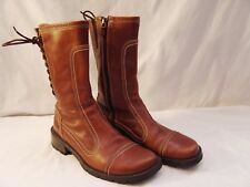 Donald J Pliner Boots 6M Womens 6 M Brown Leather Combat Style