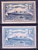 "FRANCE STAMP TIMBRE YVERT N° 299 + 300 "" NORMANDIE "" NEUFS xx LUXE VALEUR : 222€"
