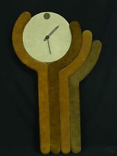 "RARE VINTAGE 1976 AUSTIN PRODUCTION MODERNIST WALL CLOCK ~ 34"" * WORKS"
