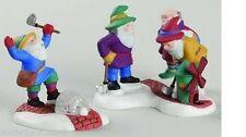 Dept 56 North Pole Series #56.56442 Tee Time Elves Retired Mint Golfing Elves