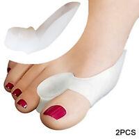 2pcs Premium Toe Separator Silicone Toe Spacers Bunion Corrector Relief Gel