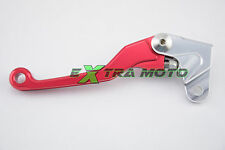 Leva frizione snodata antirottura ergal CNC per HONDA CRF R 150 450 ROSSO