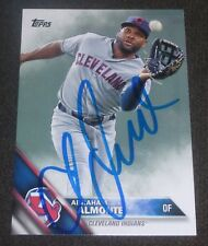 ABRAHAM ALMONTE SIGNED 2016 TOPPS CARD #556 CLEVELAND INDIANS AUTO BASEBALL