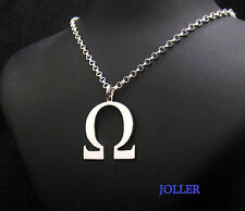 39Mm Silver 925 By Joller Handmade Omega Letter Pendant Extra Large