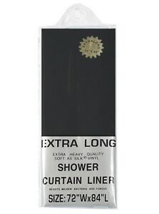 "EXTRA LONG 5-gauge VInyl Shower Curtain Liner: 72"" W x 84"" L"