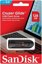 SanDisk 128GB Cruzer Glide 128G USB 3.0 Flash Pen Drive SDCZ600-128G Retail
