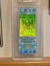 1995 Super Bowl XXIX 49ERS VS CHARGERS PSA 8 Graded FULL Ticket RARE STEVE YOUNG