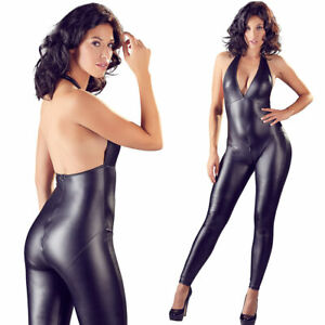 "Sexy Overall S M L XL matter Wetlook 2-Wege-Zip Damen Body jumpsuit ""Sharleen"""