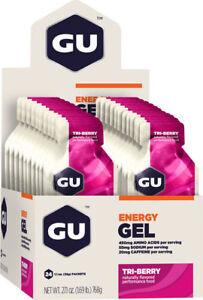 GU Energy Gel: Tri Berry, Box of 24