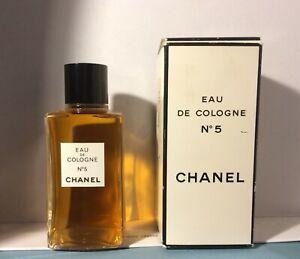 Vintage Chanel No 5 EDC Gold Sealed 4 Oz 120ml Perfume P.M, 75° Gold Seal w/Box