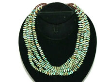 """SILPADA 6 Strand Sterling Silver Turquoise & Glass Bead Necklace 18-20"""""""