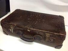 Estuche De Viaje De Cuero Antiguo Vintage Maleta - - envío tronco Vapor