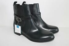 Croft & Barrow Women's Black Leather Buckle Ankle Boots  Sz 8 M
