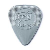 Herco FLEX 75 Heavy Silver Nylon Guitar Picks / Plectrums   -   Pack of 12 picks