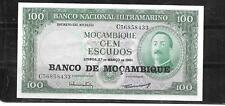 New listing Mozambique #117a 1976 Xf Circ 100 Escudos Overprint Banknote Note Paper Money