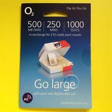 O2/02 Nano/Micro/Standard SIM jede 3G/4G Telefon Pay As You Go/PAYG/payt/Prepaid UK