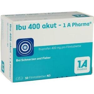 IBU 400 akut -1A Pharma 50 Filmtabletten Ibuprofen 400mg PZN: 3045316