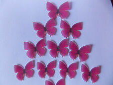 44 PRECUT Edible Pink(C) wafer/rice paper Butterflies cake/cupcake toppers