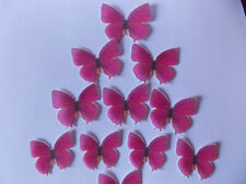 44 Precortada Comestibles Rosa (C) wafer/rice De Papel Mariposas cake/cupcake Toppers