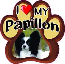I LOVE MY PAPILLON Cute Dog Bumper sticker PAW #198