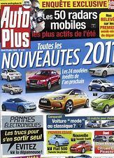 AUTO PLUS N°1141 20/07/2010 NOUVEAUTES 2011/ BUGS ELECTRONIQUES/ RADARS MOBILES