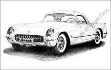 1953 Chevrolet Corvette 11 x 17 drawing/picture/print  53