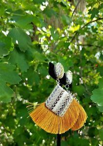 Fashion Bohemian Tassel Earrings for Women-Cotton & Fabric
