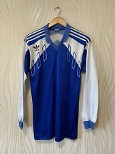 ADIDAS 80s 90s FOOTBALL SHIRT SOCCER JERSEY LONG SLEEVE VINTAGE