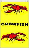 3x5 Advertising Yellow Crawfish Vertical Marketing Flag 3'x5' Banner Grommets