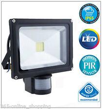 LED COB Floodlight 20W PIR Modern Security Flood Light Motion Sensor Outside NEW