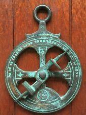 Very Beautiful antique and rare Portuguese astrolabe made of bronze XVII century