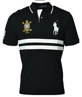 POLO RALPH LAUREN men's Classic Fit RUGBY POLO SHIRT Big Pony Crest Black SMALL
