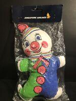 Vintage Singapore Airlines Plush Clown Toy Hong Kong