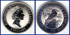 2 SILVER DOLLARS/ 2 DÓLARES PLATA. AUSTRALIA 1993. KOOKABURRA. UNC/SC.