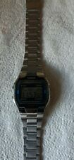 Casio A168WA Classic Retro Unisex Wristwatch - Silver tone