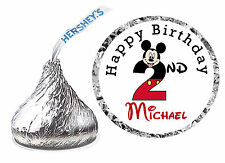 216 MICKEY MOUSE 2nd BIRTHDAY PARTY FAVORS HERSHEY KISS LABELS