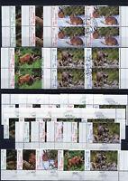 Bund 2539 - 2543 Eckrand o. VB Viererblock gestempelt Vollstempel Tiere 2006