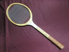 STURMAN Tournament Model Tennis Racquet, wood with leather grip + All-Pro Cover