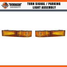 2 PCS Front Turn Signal / Parking Light Assembly Dorman For 92-93 FORD F-350