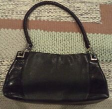 Brighton Collection Handbag Black Pebble Leather 313403