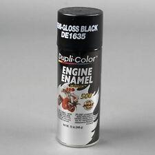 Duplicolor DE1635 Engine Enamel Paint, Ford Semi Gloss Black, 12 Oz Can