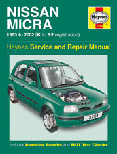 3254 Haynes Nissan Micra (1993 - 2002) Petrol K to 52 Workshop Manual
