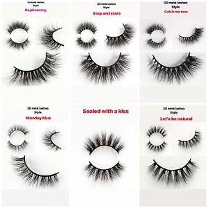 100% LUXURY 3D Mink Hair Natural Long Eye Lashes False Eyelashes Makeup LOT SEXY