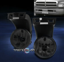 1994-2001 DODGE RAM 1500 2500 3500 PICKUP BUMPER DRIVING FOG LIGHTS LAMPS SMOKE
