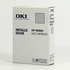3x Kassette metallic silber original für OKI DP, CITIZEN  Printiva, ALPS MD