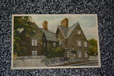 VTG House of Seven Gables Built 1666 SALEM MASS MA PostCard White Border 1 cent