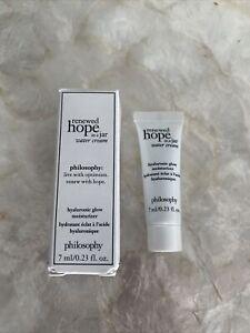 Philosophy Renewed Hope in a Jar Water Cream Hyaluronic Glow Moisturiser 7ml New