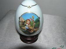 The Danbury Mint M.J. Hummel Porcelain Egg Collection Apple Tree Girl with Brown